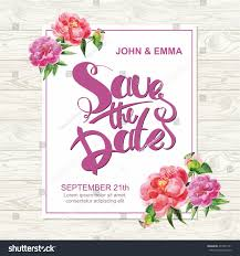 Marriage Invitation Card Marriage Invitation Card Save Date Tag Stock Vector 437397721