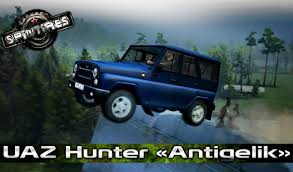 uaz hunter tuning uaz 315195 hunter v2 0 for spin tires 2014 download game mods