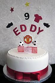 personalised manchester united football birthday cake topper