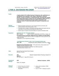 Resume Examples For Registered Nurse by Nursing Resume Samples Objectives Idr Group