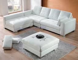 Contemporary White Leather Sectional Sofa by Modern Line Furniture Commercial Furniture Custom Made