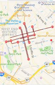 Dart Map Dallas by Map Road Closures In Downtown Dallas Following Police Shootings