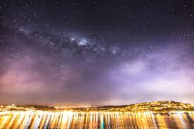 night in the city reader captures milky way and lights of new zealand