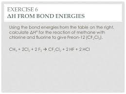 Bond Energies Table Ch 8 Chemical Bonding And Molecular Structure Ppt Download