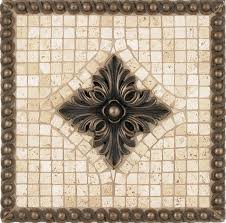 kitchen backsplash metal medallions mosaic tile backsplash tribecca mosaic tile backsplash medallion