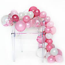 balloon garland diy balloon garland kit pink peony one stylish party