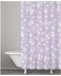 Shower Curtains Purple Spectacular Deal On Kassatex Kassa Kids Cotton Butterfly Shower