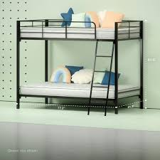 steel quicklock bunk bed with 6 u201d twin mattresses zinus