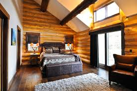 log homes interiors rustic log cabin rustic bedroom denver by mountain log