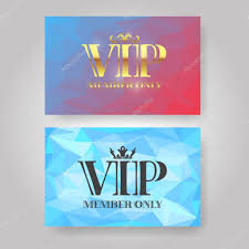 vip member card design template golden vip low poly style