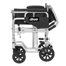 poly fly light weight transport chair wheelchair with swing away