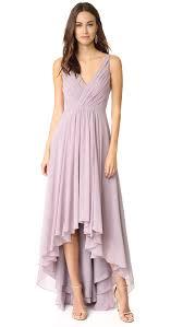monique lhuillier bridesmaids high low chiffon gown shopbop