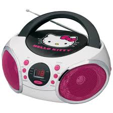 kitty portable stereo cd boombox fm radio speaker