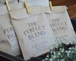 Wedding Favors For Bridal by Coffee Favor Bags Wedding Favors Bridal Shower Coffee