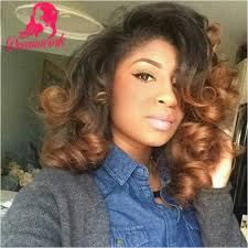 pictures of black ombre body wave curls bob hairstyles cheap wig brown buy quality wig bonding directly from china wig