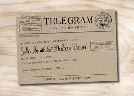 telegram wedding invitation telegram wedding invitation vintage telegram save the date wedding