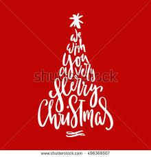 modern christmas cards christmas modern calligraphy greeting cards poster stock vector
