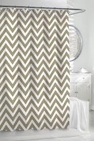 White Linen Shower Curtain Chevron Shower Curtain By Kassatex