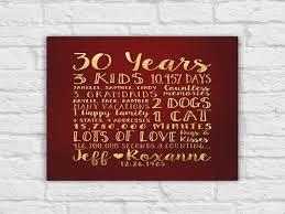 30 anniversary gift 30 year anniversary gift gift for parents anniversary kids 30th