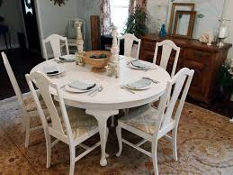 white painted dining table and chairs with inspiration image 7967