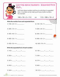 place value expanding numbers worksheet education com