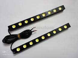 12 volt led lights waterproof drl 9x led light strip 12v universal car daytime running lights auto