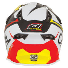 motocross helmets ebay oneal new 2017 mx 10 series flow red yellow dirt bike mips