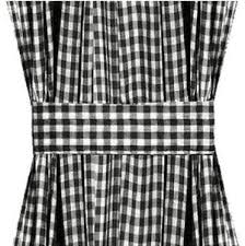 Black Gingham Curtains Gingham Door Curtain Panels Available In Many Lengths