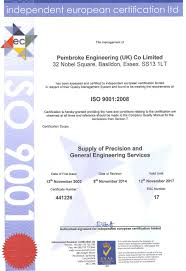 iso 9001 certificate
