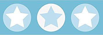 frise chambre bébé garçon lovely label frise murale adhésive enfant à motifs étoiles gris bleu