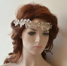 lace headband wedding hair vine wedding lace headband lace bridal headband