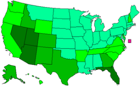 map us states population list of u s states by historical population