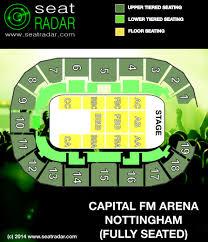 capital fm arena nottingham seatradar com