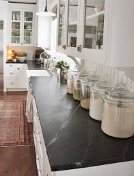 kitchen glass canisters decorating with glass canisters in the kitchen pic of