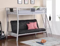 Black Metal Futon Bunk Bed Furniture Affordable Bunk Beds With Mattresses 3 Sleeper Bunk