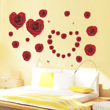 online get cheap 3d wall stickers love couples aliexpress com 061 rose love valentine s day new married couple living room bedroom home decor non toxic 3d waterproof wall stickers