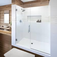 3 Panel Shower Doors Dresden Frameless 3 8 Inch Glass Swing Door Basco Shower Doors