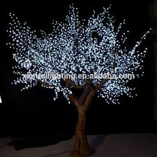 beautiful led light artificial tree without leaves view
