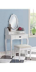 Unfinished Wood Vanity Table Amazon Com Roundhill Furniture Ashley Wood Make Up Vanity Table