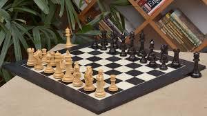 luxury chess set of french warrior luxury chess set in ebony box wood black