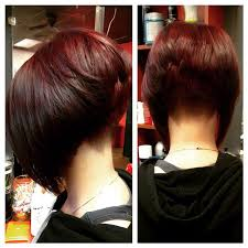 pictures of back of hair short bobs with bangs womens hairstyles long in front short in back 42lions com