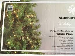 gluckstein home trees pre lit unlit new in box