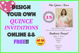 free invitation design quince wedding by myquinceanera diy