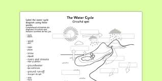 water cycle labelling worksheet romanian translation romanian