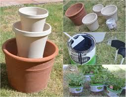 how to build an herb garden diy stacked herb garden hip2save