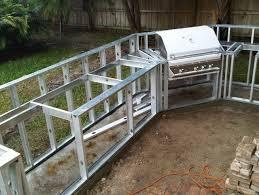 outdoor kitchen island plans diy outdoor kitchen frames home design ideas