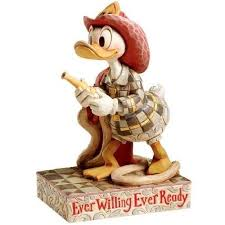 firefighter figurines donald duck firefighter willing ready statue figure