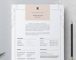 creative cv template etsy