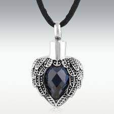 cremation jewlery sapphire near heart stainless steel cremation jewelry