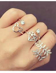 girls rings hand images Beautiful diamond fashion girl hand rings silver image jpg